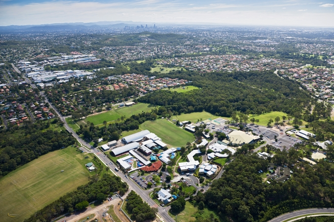 Aerial Photo of Christian Heritage College and Brisbane