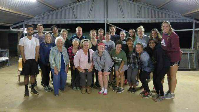 Thanks to Grace (beside me) and Grandma (beside Grace), we felt like home in The Outback. This is our whole group.