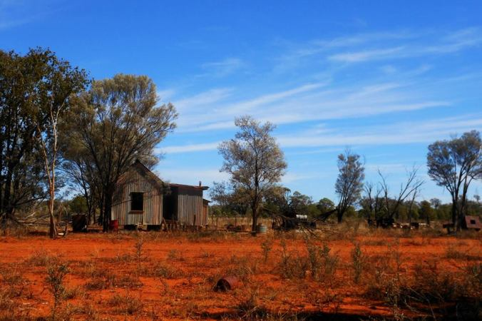 A perfect depiction of the beauty of the red dusty dirt of the Outback.