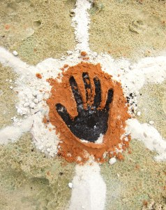 Indigenous hand print