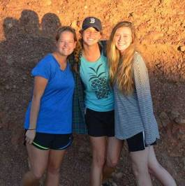 Me, Allie and Tarian in the Outback